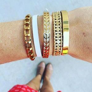Stella & Dot Arrison Gold Reversible Bracelet EUC